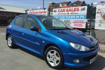Peugeot 206 1.4 VERVE 5DR 2006/55 **LOW 61,187 MILES ** MOT 20/02/2019 ** HPI CLEAR ** CLEAN EXAMPLE ** 12 MONTH AA BREAKDOWN COVER INCLUDED
