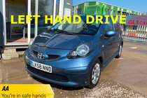 Toyota AYGO 1.0 VVT-i LEFT HAND DRIVE LHD