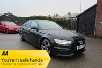 Audi A6 TDI S LINE BLACK EDITION SERVICE HISTORY ! HTD LEATHER ! SATNAV/MEDIA/BT ! RESERVE & COLLECT !