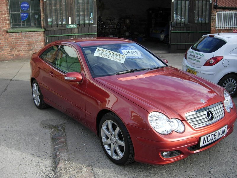 mercedes c class c 180 kompressor sportcoupe se central car sales northallerton limited. Black Bedroom Furniture Sets. Home Design Ideas