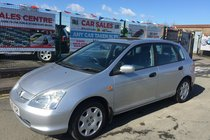 Honda Civic 1.6 SE AUTOMATIC 5DR **SUNROOF **12 MAIN DEALER SERVICE STAMPS **12 MONTH MOT INCLUDED FOR THE NEW OWNER