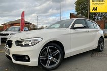BMW 1 SERIES 118d SPORT PRO NAV/LEATHER used car in alpine white