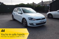 Volkswagen Golf GT TDI BLUEMOTION TECHNOLOGY DSG £30 TAX ! FSH ! NAV/MEDIA/PHONE ! HTD LEATHER ! £53 PW & NO DEPOSIT !