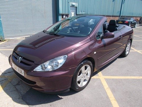 just cars swindon | peugeot 307 2.0 16v coupe cabriolet 180bhp