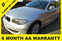 BMW 1 SERIES 116d ES 6 MONTH AA WARRANTY-12 MONTH MOT-12 MONTH AA COVER-12 MONTH FULL SERVICE