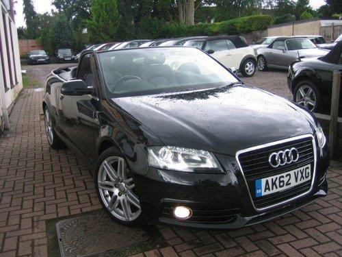 Audi A3 2.0 TDI S LINE 140 BHP, £30 TAX, 1 OWNER, SAT NAV, BLUETOOTH, FULL LEATHER, XENONS, ELEC HOOD, 18