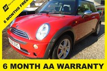 MINI One ONE 6 MONTH AA WARRANTY-12 MONTH MOT-12 MONTH AA COVER-12 MONTH FULL SERVICE