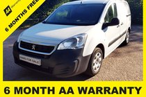 Peugeot Partner BLUE HDI PROFESSIONAL L1 6 MONTH AA WARRANTY - 12 MONTH MOT - FULL SERVICE - 12 MONTH AA BREAKDOWN COVER