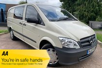 Mercedes Vito 113 CDI DUALINER 6 SEATER + AIR CON + 6 SEATS + LWB