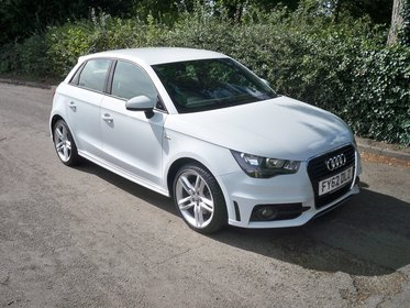 Audi A1 1.6 TDI S LINE SPORTBACK 105PS FULL SERVICE HISTORY, LADY OWNER, ZERO ROAD TAX