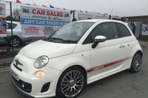 Abarth 500 1.4 T-JET ABARTH 3DR 2009 WHITE **NOVITEC EXHAUST SYSTEM **INTERSCOPE SOUND SYSTEM **SPORT BUCKET SEATS **HPI CLEAR **2 KEYS