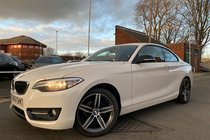 BMW 2 SERIES 218d SPORT used car in Alpine White