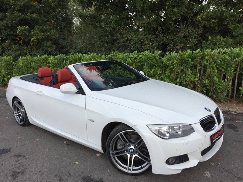 Bmw 3 Series 325i M Sport Convertible 2 Door Step Auto 1 Owner Red Heated Dakota Leather Satnav Remote Roof Operation 7000 Worth Of Options