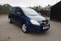 Vauxhall Zafira Exclusiv 1.6 16v VVT (115PS) 99% FINANCE APPROVAL ! ONLY 45,013 MILES !