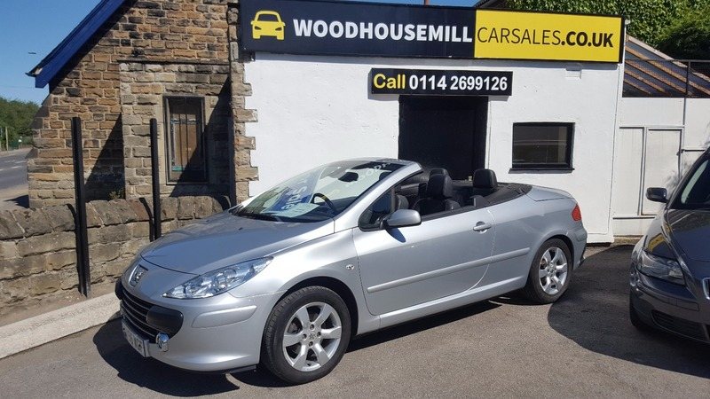 peugeot 307 1 6 16v sport coupe cabriolet woodhouse mill car sales. Black Bedroom Furniture Sets. Home Design Ideas