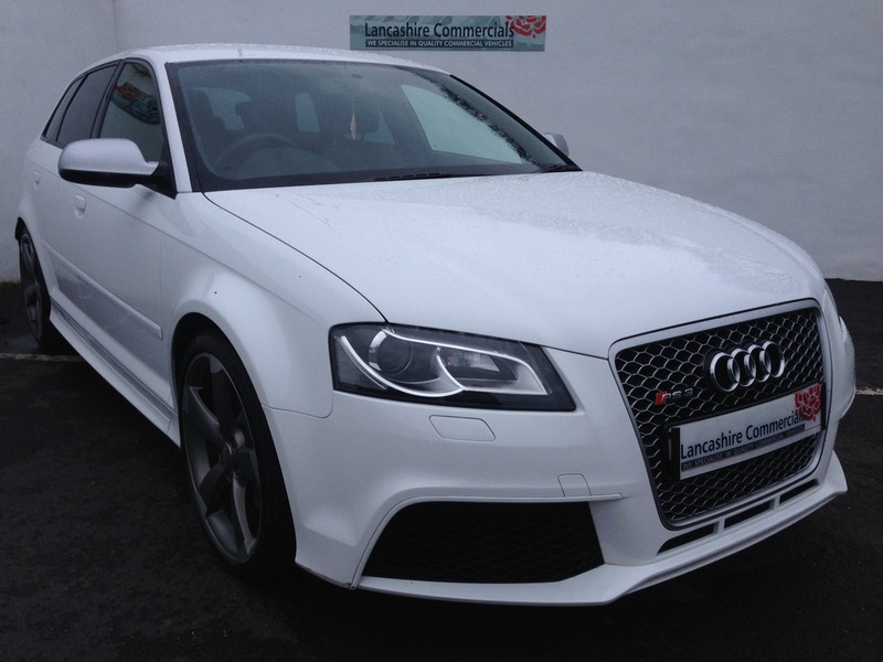 audi rs3 2 5 tfsi quattro sportback s tronic white px finance welcome lancashire commercials. Black Bedroom Furniture Sets. Home Design Ideas