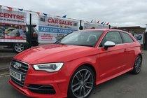 Audi S3 2.0 TFSI QUATTRO 3DR 2013/63 *** LOW 25,386 MILES *** FULL AUDI SERVICE HISTORY *** HEATED LEATHER/ALCANTARA S3 INTERIOR ***DAB