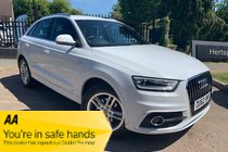 Audi Q3 TDI S LINE IN METALLIC WHITE VERY CLEAN