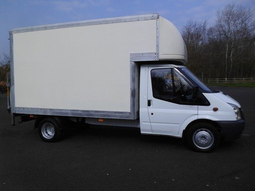 Ford Transit NO VAT !!! 10FT 6IN LUTON WITH TAIL LIFT T350L LWB ONLY 59000 MLS
