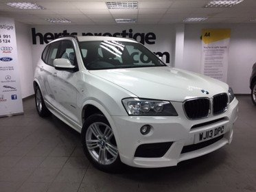 BMW X3 2.0 XDRIVE 20d M SPORT In White with Black Leather + Bodykit