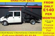 Ford Transit 350 LWB DOUBLE CAB TIPPER##NO VAT## 6 MONTH WARRANTY-12 MONTH MOT-12 MONTH AA COVER-12 MONTH FULL SERVICE