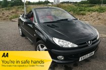 Peugeot 206 BLACK COUPE CABRIOLET - NEW MOT - WARRANTY INCLUDED