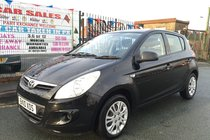 Hyundai I20 1.2 Classic 5DR 2010 BLACK ** LOW WARRANTED 64,579 MILES ** 12 MONTH MOT INCLUDED ** HPI CLEAR ** 5 DAY DRIVE AWAY INSURANCE