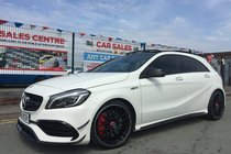 Mercedes A Class AMG A45 4MATIC PREMIUM 2015/65 FACELIFT **LOW 18,982 MILES **PAN/ROOF **DYNAMIC PLUS **AERO PACK **NIGHT PACK **EDITION 1 EXTRAS