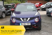 Nissan Juke N-CONNECTA DCI  2016 Sat Nav & Rear View Camera - red inserts BLUE MOTION ECONOMY *** 70+ MILES PER GALLON ***  £900 OFF