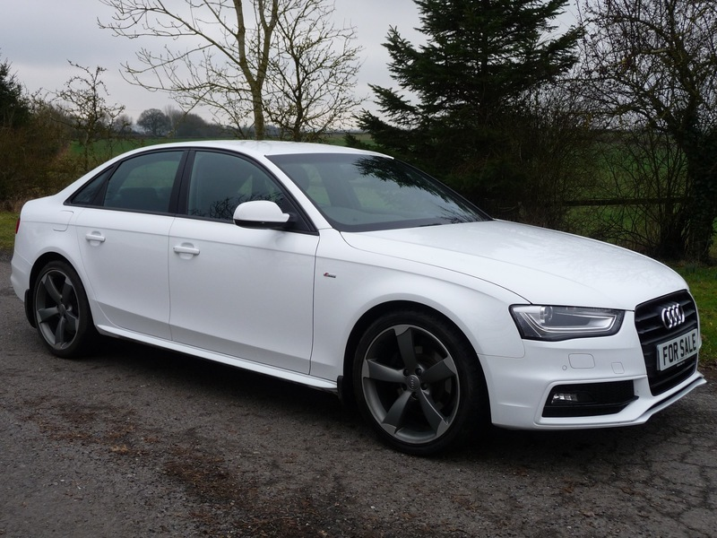 Audi A4 A4 2.0 TDI S-LINE BLACK EDITION 177 PS (WHITE) 2014/14 | Hart Vehicle Contracts