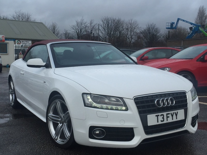 Audi A TDI S LINE CONVERTIBLE PS WHITE WITH RED ROOF - White audi a5