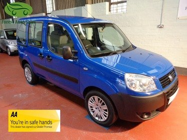 Fiat Doblo 1.3 16V MULTIJET ACTIVE WAV Rear Wheelchair Access Conversion, 3 Seats + Wheelchair Passenger, Full Length Lowered Rear Floor.