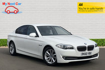 BMW 5 SERIES 520d SE STUNNING WHITE WITH CREAM LEATHER