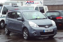 Nissan Note N-TEC 1.4 58,000 MILES SERVICE HISTORY EXCELLENT VALUE LOTS OF EXTRAS INC SAT NAV