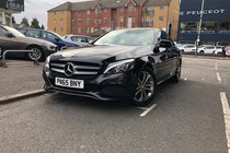 Mercedes C Class C200 SPORT PREMIUM.Leather+SatNav+RevCam+Cruise