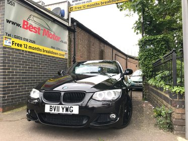 BMW 3 SERIES 320i M Sport Convertible Full Black Leather Interior