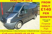 Ford Transit 280 TREND SHR P/V 6 MONTH WARRANTY-12 MONTH MOT-12 MONTH AA COVER-12 MONTH FULL SERVICE