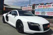 Audi R8 4.2 QUATTRO WHITE 2DR **HPI CLEAR **2 KEYS **DOCUMENTED SERVICE HISTORY **MOT 21/06/2019 **PRIVATE PLATE **PX WELCOME