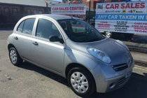 Nissan Micra 1.2 S AUTOMATIC 5DR 2006 ** 10 SERVICE STAMPS ** WARRANTED 92,530 MILES ** LAST SERVICED ON 92,206 MILES ** 12 MONTH MOT ** AUTO