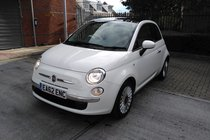 Fiat 500 1.2 Lounge 3dr (start/stop)*HPI CLEAR*FULL SERVICE HISTORY DEALER*ONE FORMER KEEPER*MOT DUE 06/10/2017*FREE 6 MONTHS WARRANTY