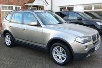 BMW X3 d SE, FULL SERVICE HISTORY+ SATNAV+ HALFLEATHER+PARKING SENSOR.